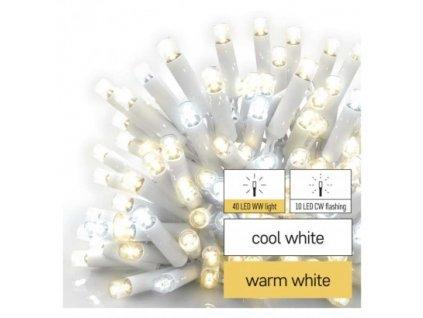 Profi LED spojovacia reťaz blikajúca biela – cencúle, 3 m, vonkajšia, teplá/studená biela