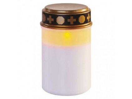 LED náhrobná sviečka, 12,5 cm, 2x C, vonkajšia aj vnútorná, vintage, časovač