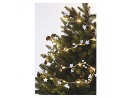 LED vianočná girlanda – šišky, 1,7 m, 2x AA, vnútorná, teplá biela