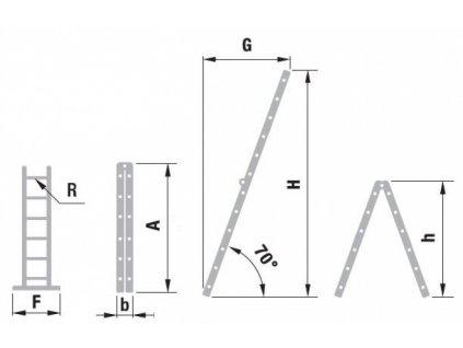 Rebrík dvojdielny kĺbový ALVE 4205