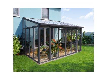 Palram Torino 3x4,25 šedá zimná zahrada
