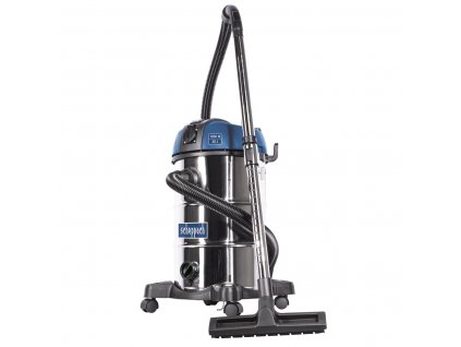 Scheppach ASP 30 PLUS vysávač na mokré / suché vysávanie s mechanickým oklepom filtru