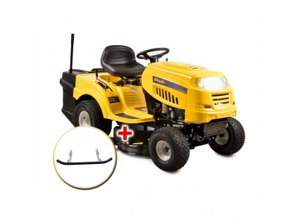 Riwall PRO RLT 92 T travní traktor se zadním výhozem a 6-ti stupňovou převodovkou Transmatic + nárazník