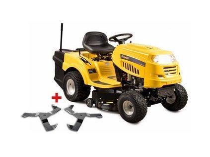Riwall PRO RLT 92 T POWER KIT travní traktor se zadním výhozem a 6-ti stupňovou převodovkou Transmatic + nárazník
