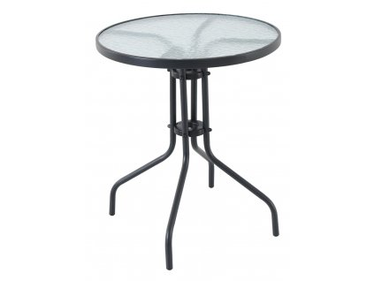 Creador Pikolo Round kovový stůl se skleněnou deskou