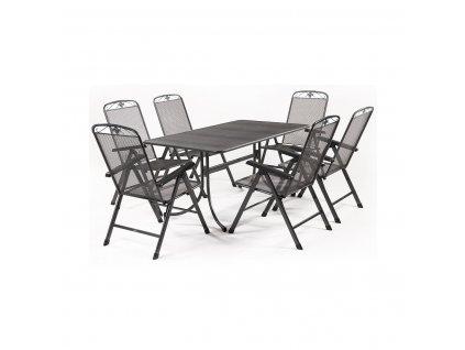 MWH Basanis 6+ sestava nábytku z tahokovu (6x pol. křeslo Savoy, 1x stůl Universal 160)