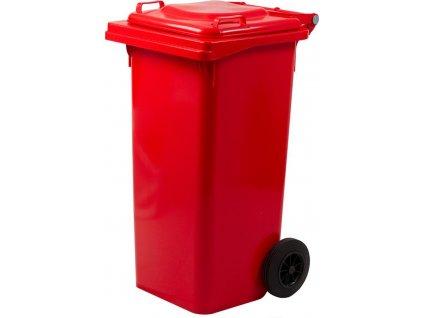 Nádoba Strend Pro GB2, 120 lit, plast, červená, HDPE, popolnica na odpad