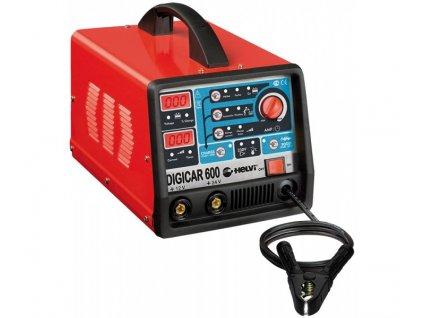 SOLUTION Automatická nabíjačka s bezpečnostným automatickým štartom DIGICAR 600  SERVIS EXCLUSIVE