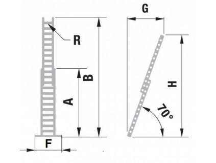 Rebrík ALVE FORTE 8820 (5,80m) verzia s lanom