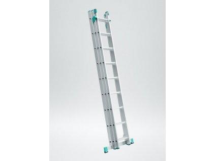 Rebrík trojdielny univerzálny s úpravou na schody ALVE EUROSTYL 3x10 (2,86m)