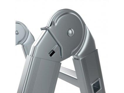 Rebrík štvordielny kĺbový ALVE EUROSTYL 4x3 (0,95m)