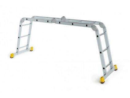 Rebrík štvordielny kĺbový ALVE EUROSTYL 4x4 (1,23m)