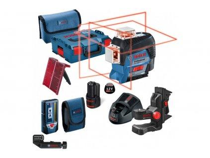 BOSCH GLL 3-80 C Líniový laser+ BM1 držiak+LR7 prijímač  SERVIS EXCLUSIVE | Rozšírenie záruky na 3 roky zadarmo + VOUCHER - zľavový kupón