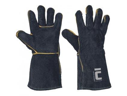Rukavice SANDPIPER BLACK 11, kožené zváračské