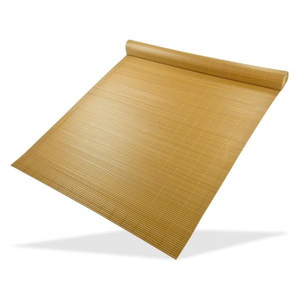 DEMA Clona na plot, bambusová rohož z PVC 140x500 cm, žltá