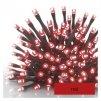 Standard LED spojovacia vianočná reťaz, 10 m, vonkajšia aj vnútorná, červená, časovač