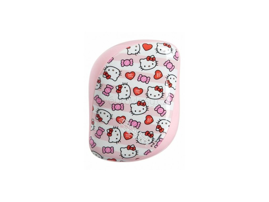 Tangle Teezer Compact Styler Hello Kitty Candy Stripes - kartáč na vlasy