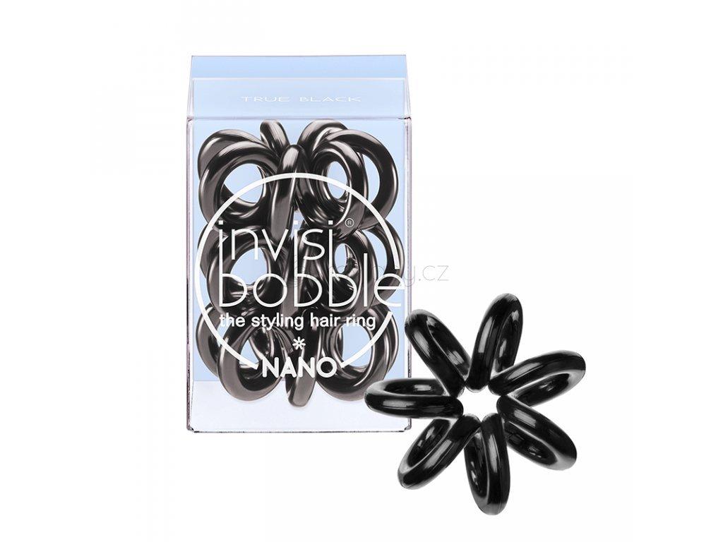 7310 1 invisibobble nano true black gumicka do vlasu cerna 3ks
