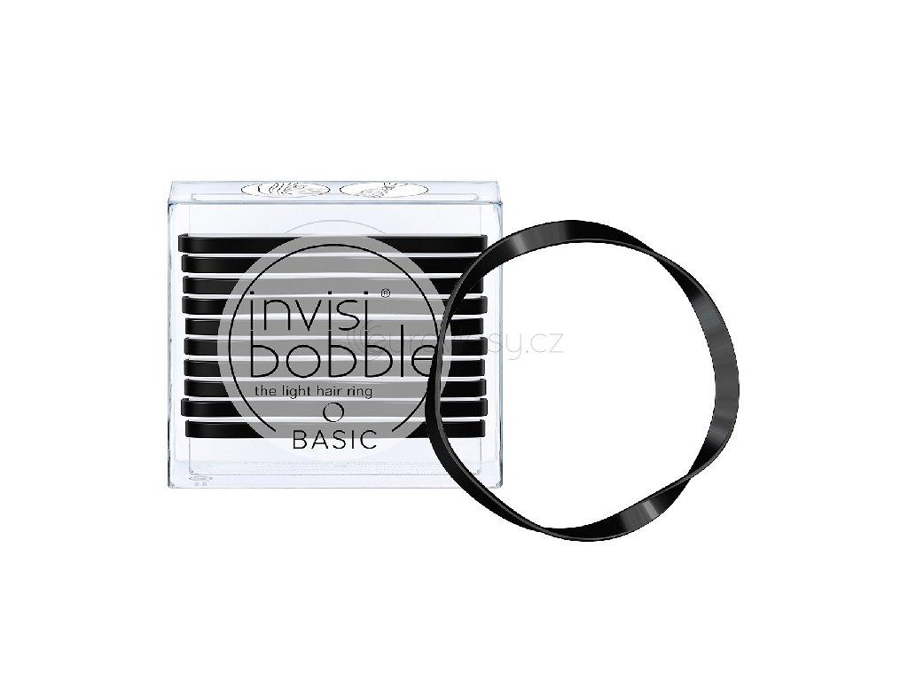 Invisibobble BASIC True Black - vlasové gumičky 10 ks/bal.