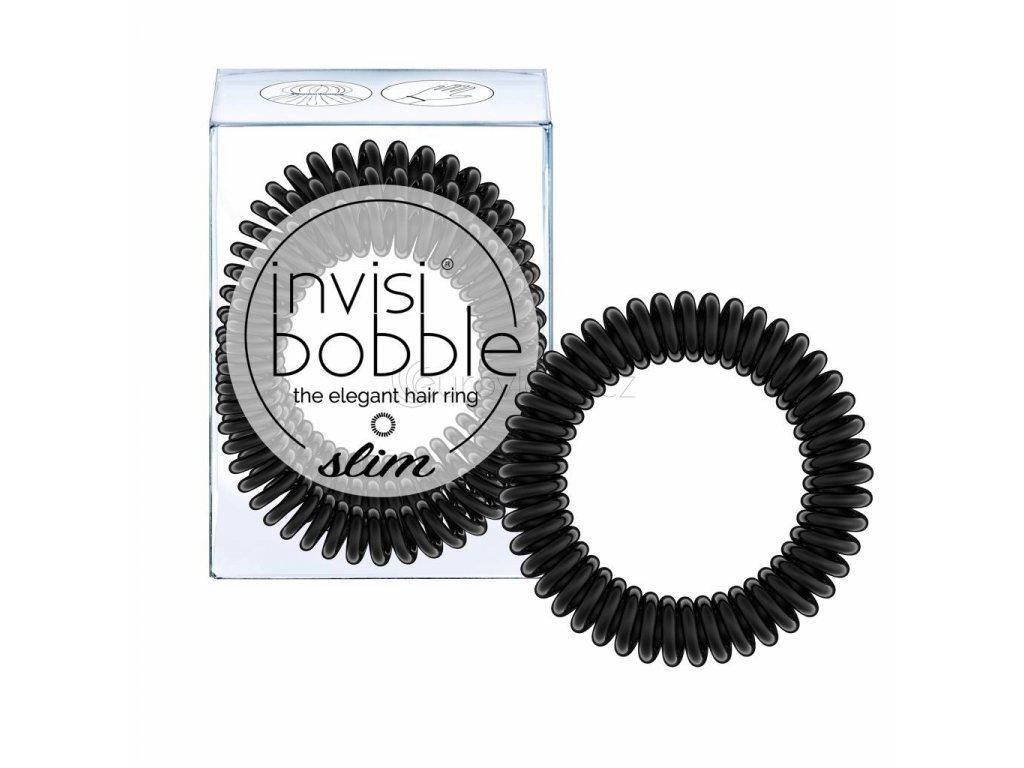 Invisibobble SLIM True Black - vlasové gumičky 3 kusy/bal.