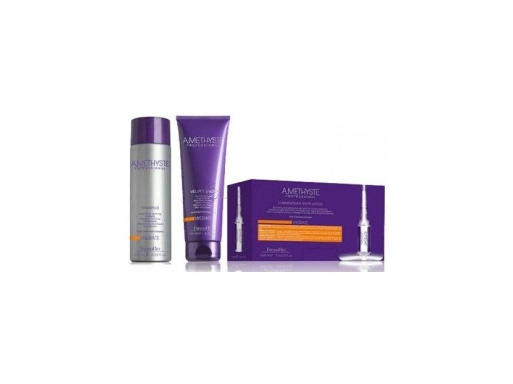 Hydrate šampon 250 ml+maska 250 ml+ampule 10x8 ml - sada pro hydrataci vlasů