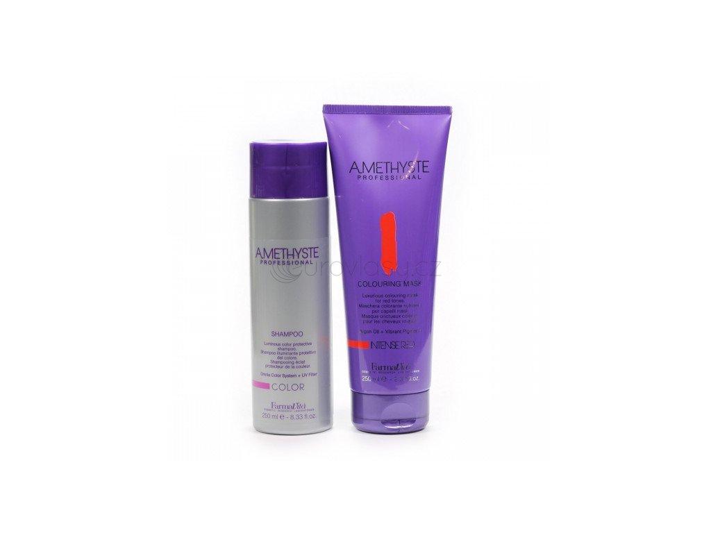 Colouring sada - Color Shampoo 250 ml+Intense Red Mask 250 ml - pro barvené vlasy
