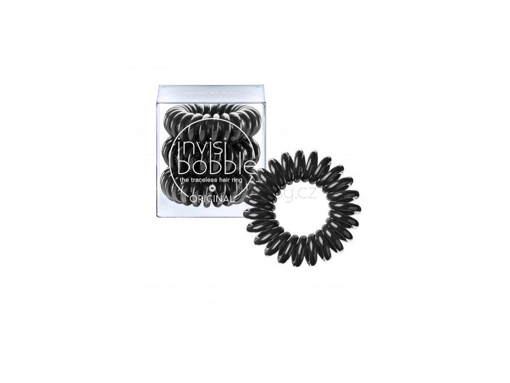 Invisibobble ORIGINAL True Black - vlasové gumičky 3 kusy/bal.