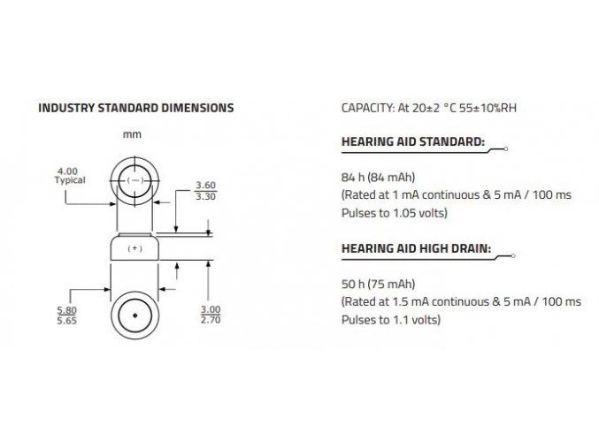 tesla baterie do naslouchadel a10