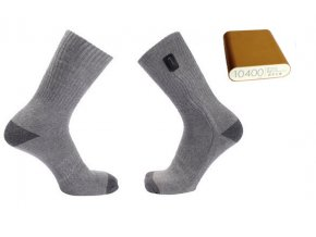 Vyhřívané ponožky USB-HEAT +  Power bank 10400mAh