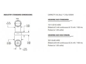 tesla baterie do naslouchadel a675
