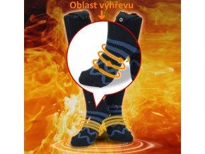 Vyhřívané ponožky USB-HEAT +  Power bank 5000mAh
