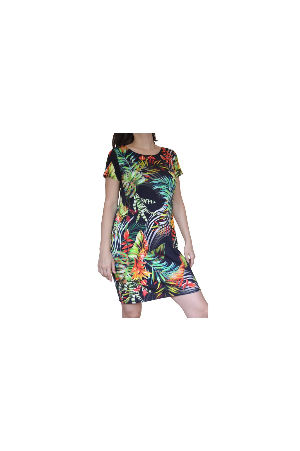 Šaty Leona deluxe - palmy
