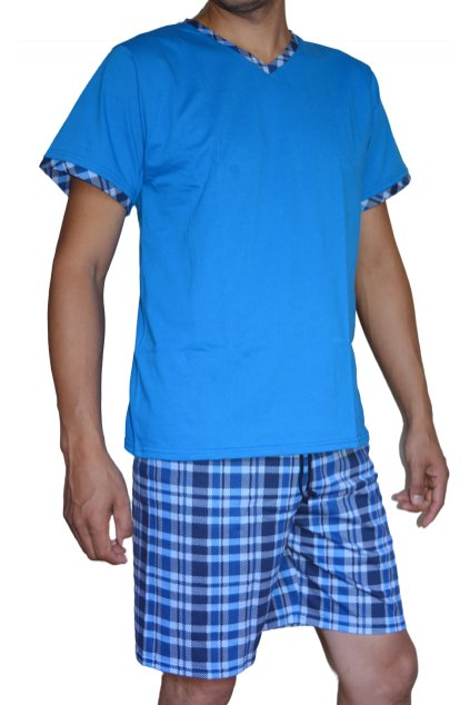Pyžamo David - modré káro