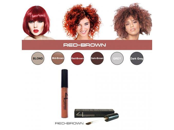 Eyebrow Filler Red - brown - farba na obočie (červeno hnedá)