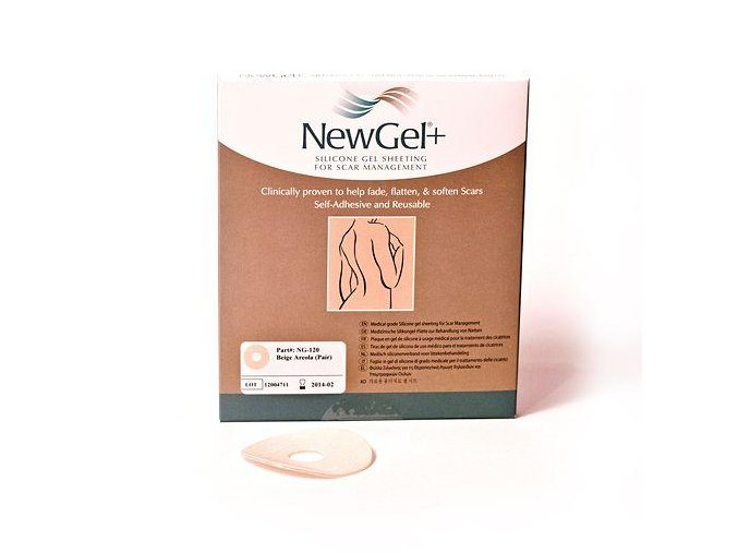 NewGel+ Kruhová béžová náplasť – areola (2 ks v balení)