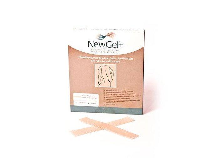 NewGel+ Béžová náplasť v tvare prúžka 2,5 x 15,2 cm (4 ks)