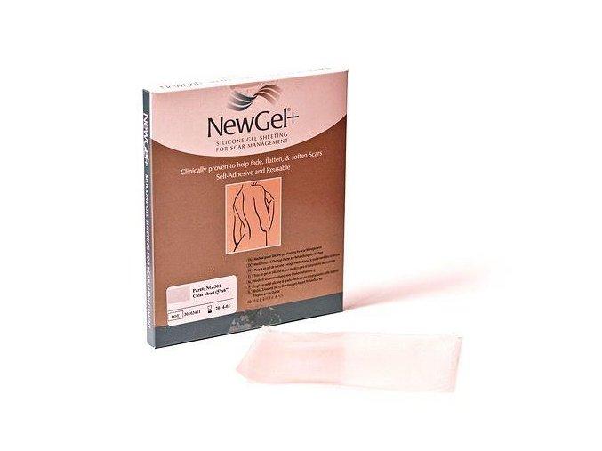 NewGel+ Priehľadná silikónová náplasť 12,7 x 15,2 cm (1 ks)