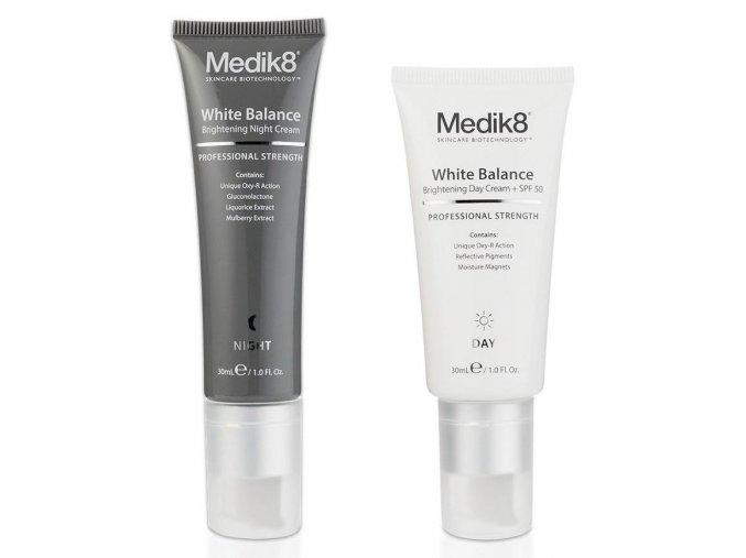 Medik8 WHITE BALANCE DUO (2 x 30 ml) Depigmentačný denný a nočný krém
