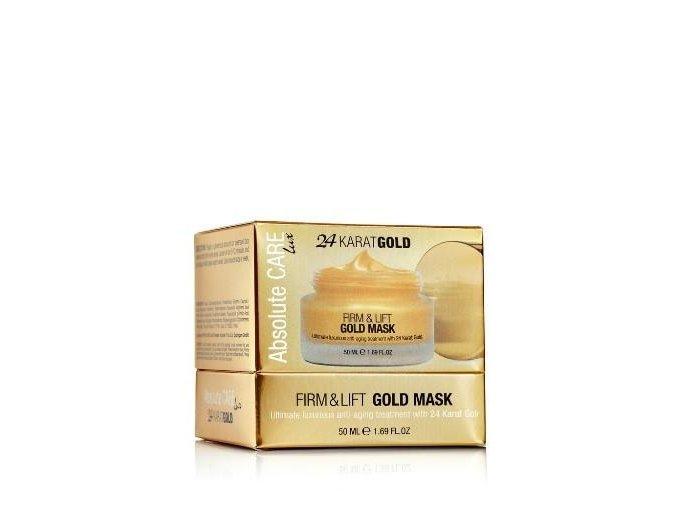 Absolute CARE 24 KARAT GOLD FIRM & LIFT MASK Anti aging liftingová maska 50ml obrázok 1