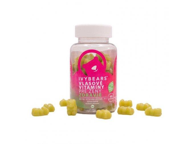 IVYBEARS Vlasové vitamny pre ženy (60 ks)