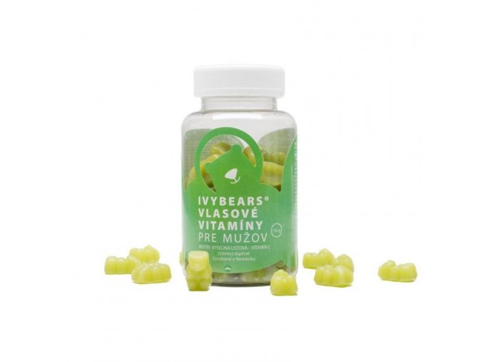 IVYBEARS Vlasové vitamíny pre mužov (60 ks)