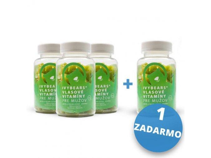 IVY Bears Vlasové vitamíny pre mužov 3+1 ZADARMO