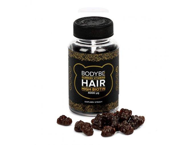 HAIR GUMMIES VITAMINS HIGH BIOTIN – Vegánskej vitamíny na vlasy – 60 ks