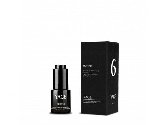 YAGE Č. 6 HOMMES Denný anti ageingový olej na problematickú pleť (15 ml)
