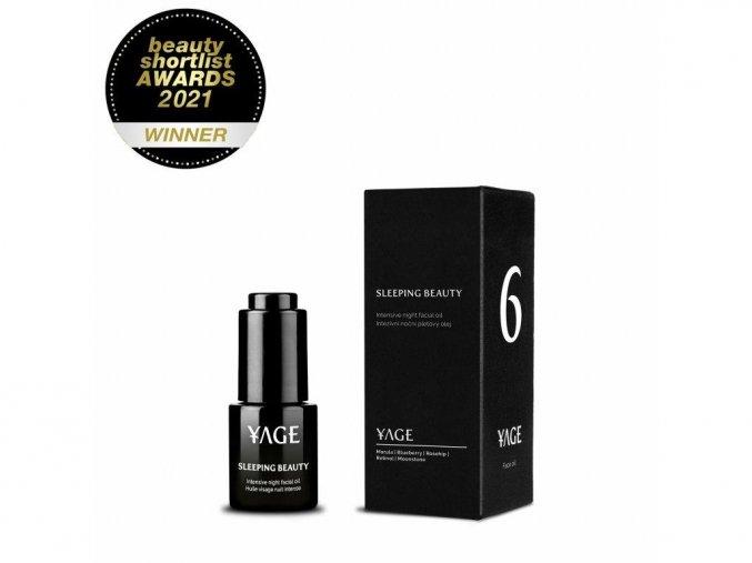 YAGE Č. 6 SLEEPING BEAUTY Nočný pleťový olej proti vráskam (15 ml)