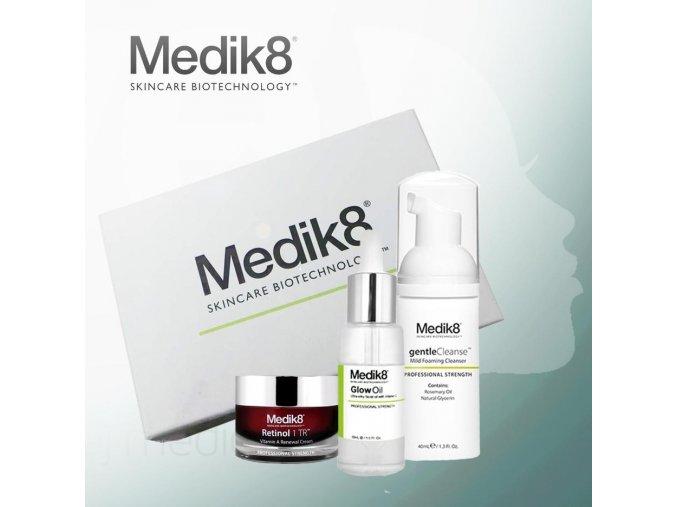 Medik8 Balíček od nás: nočný krém, hydratačný pleťový olej a čistiaca pena