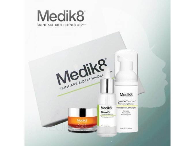 Medik8 Balíček od nás: denný krém, hydratačný pleťový olej a čistiaca pena
