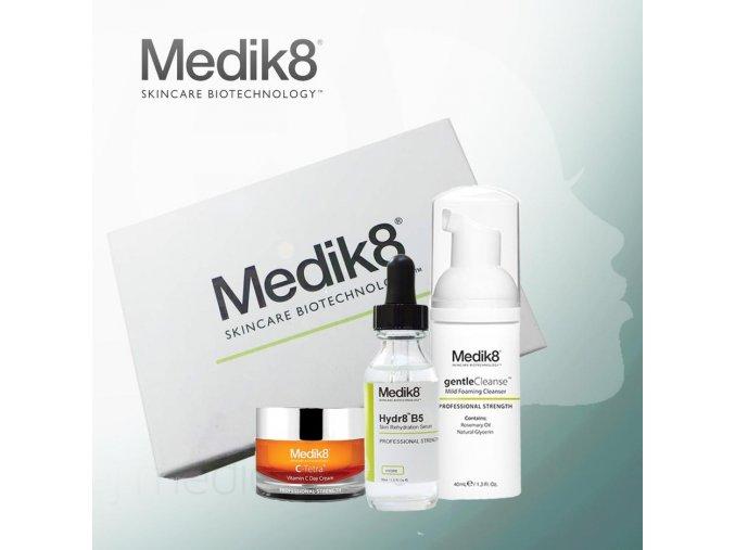 Medik8 Balíček od nás: denný krém, hydratačné sérum na pokožku a čistiaca pena