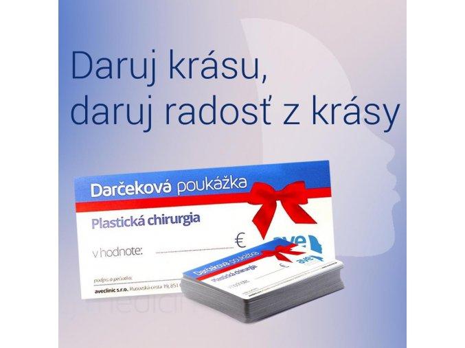 Darčekové poukážky v hodnote 50€ a 100€