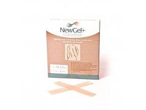 NewGel+ Priehľadná náplasť v tvare prúžka 2,5 x 15,2 cm (4 ks)